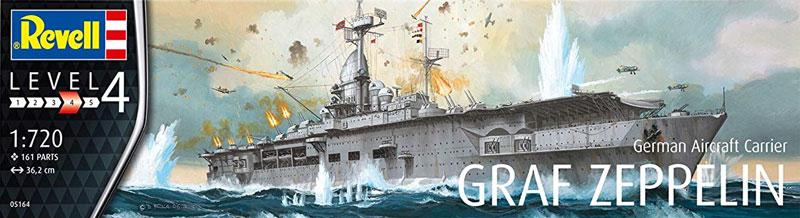 ドイツ 航空母艦 グラーフ ツェッペリンプラモデル(レベル1/720 艦船モデルNo.05164)商品画像