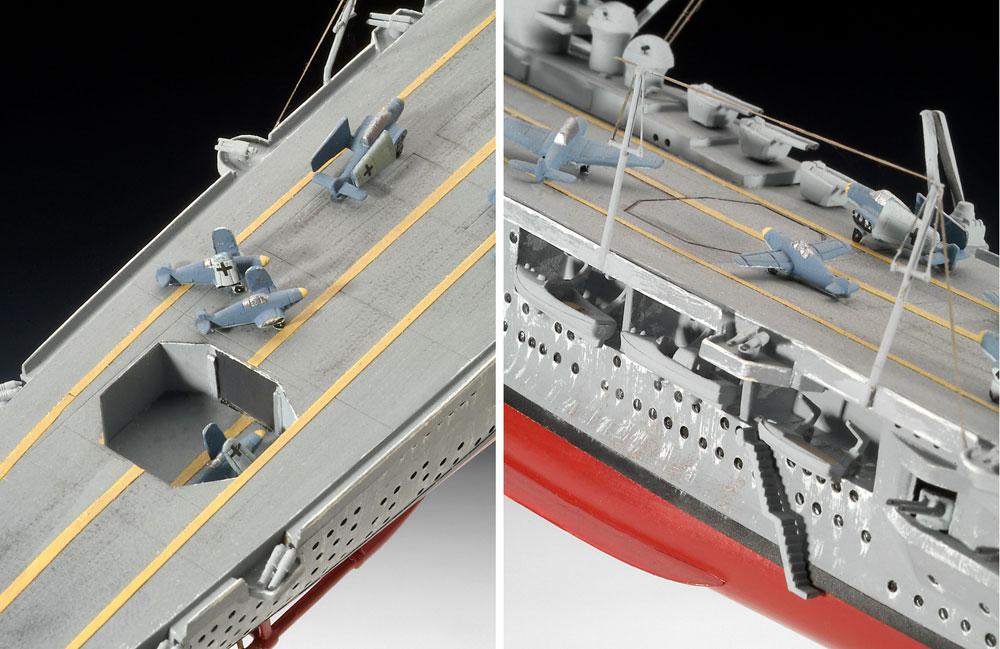 ドイツ 航空母艦 グラーフ ツェッペリンプラモデル(レベル1/720 艦船モデルNo.05164)商品画像_3