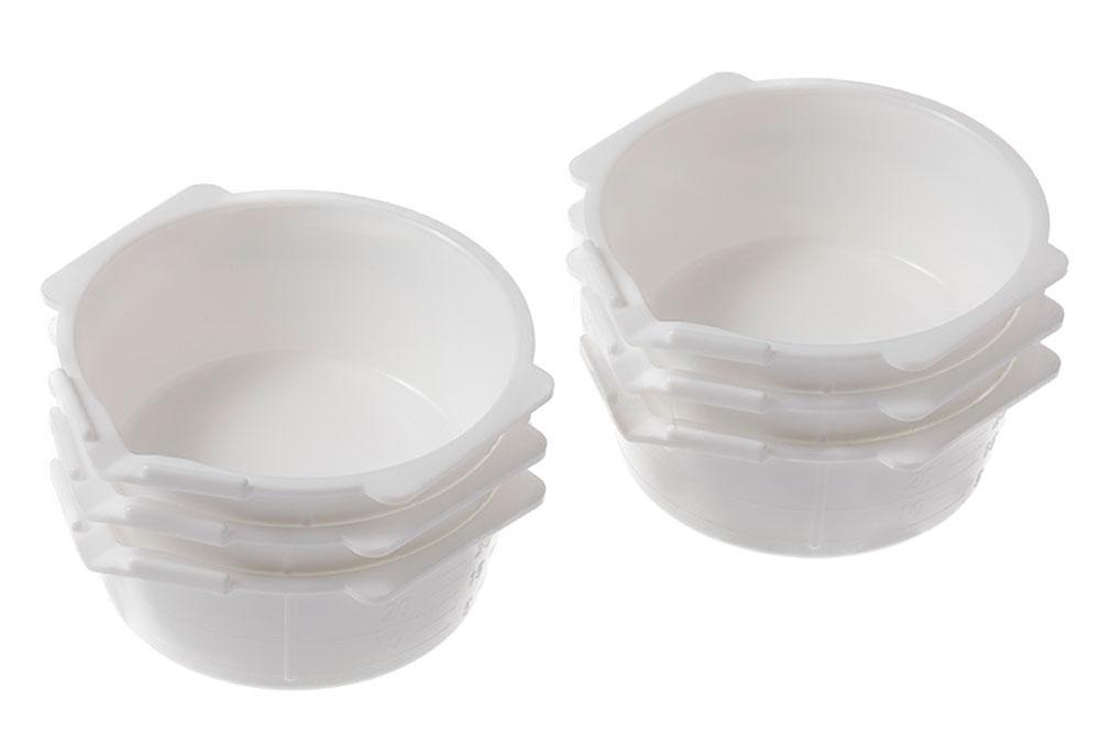 Mr.塗料カップ ホワイト 6個入りカップ(GSIクレオス塗装支援ツールNo.GT-115W)商品画像_1