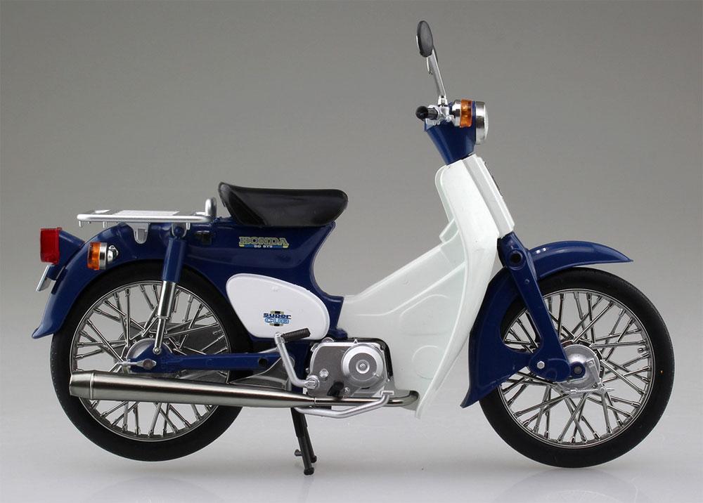 ホンダ スーパーカブ 50 ブルー完成品(アオシマ1/12 完成品バイクシリーズNo.105665)商品画像_4
