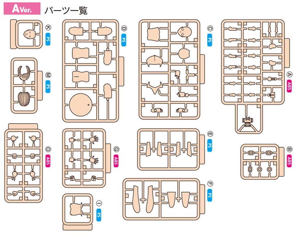 ムーバブルボディ 女性型 Aバージョンプラモデル(ウェーブオプションシステム (プラユニット)No.SR-022)商品画像_1