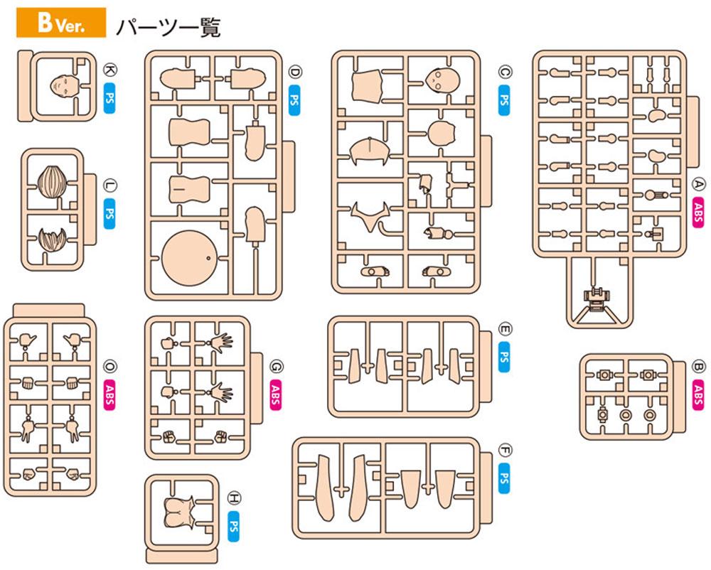 ムーバブルボディ 女性型 Bバージョンプラモデル(ウェーブオプションシステム (プラユニット)No.SR-023)商品画像_1