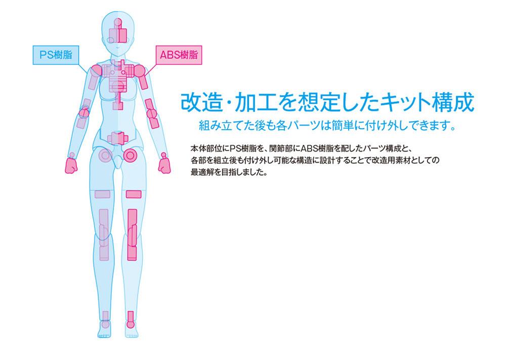 ムーバブルボディ 女性型 Bバージョン (ウェーブ オプションシステム SR-023) の商品画像