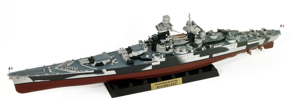 フランス海軍 リシュリュー級戦艦 リシュリュー 1943/1946 旗・艦名プレート エッチングパーツ付きプラモデル(ピットロード1/700 スカイウェーブ W シリーズNo.W184NH)商品画像_2