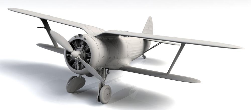 ポリカルポフ I-153 チャイカ 中国 国民党空軍プラモデル(ICM1/32 エアクラフトNo.32012)商品画像_2