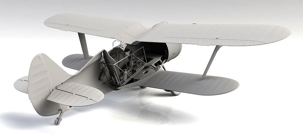ポリカルポフ I-153 チャイカ 中国 国民党空軍プラモデル(ICM1/32 エアクラフトNo.32012)商品画像_3