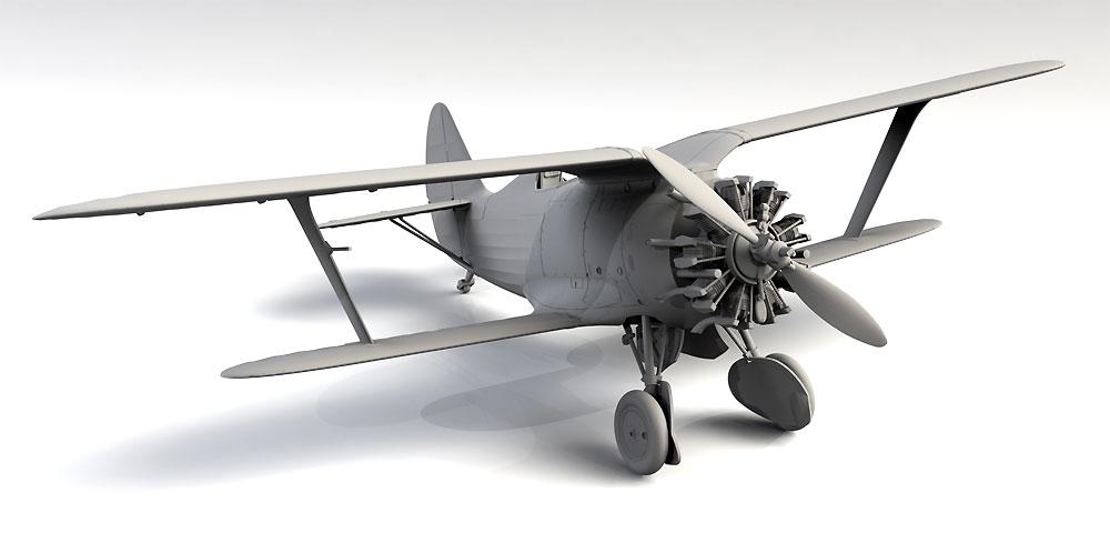 ポリカルポフ I-153 チャイカ 中国 国民党空軍プラモデル(ICM1/32 エアクラフトNo.32012)商品画像_4