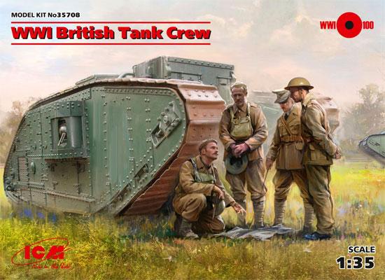 WW1 イギリス タンククループラモデル(ICM1/35 ミリタリービークル・フィギュアNo.35708)商品画像