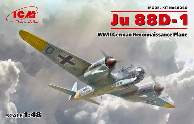 ユンカース Ju88D-1 長距離偵察機プラモデル(ICM1/48 エアクラフト プラモデルNo.48240)商品画像