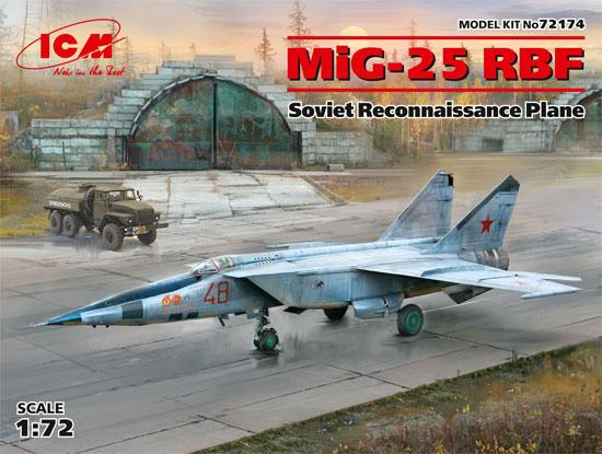 MiG-25 RBFプラモデル(ICM1/72 エアクラフト プラモデルNo.72174)商品画像