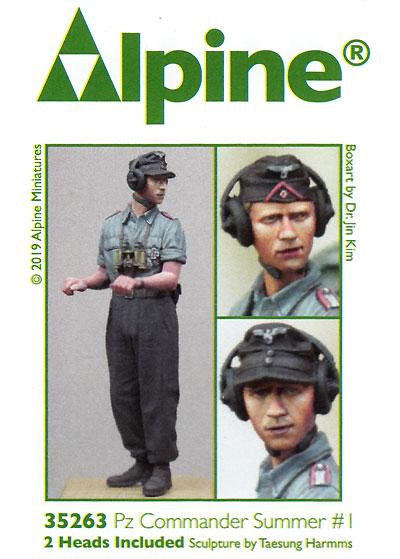 WW2 ドイツ陸軍 上着を脱いだ夏場の戦車兵 #1レジン(アルパイン1/35 フィギュアNo.35263)商品画像