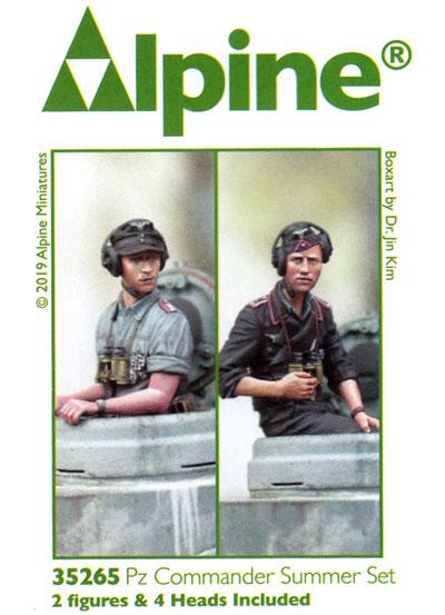 WW2 ドイツ陸軍 夏場の戦車兵セット (2体)レジン(アルパイン1/35 フィギュアNo.35265)商品画像