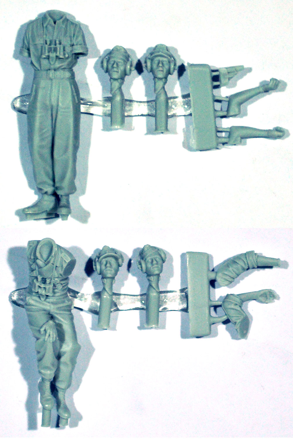 WW2 ドイツ陸軍 夏場の戦車兵セット (2体)レジン(アルパイン1/35 フィギュアNo.35265)商品画像_1