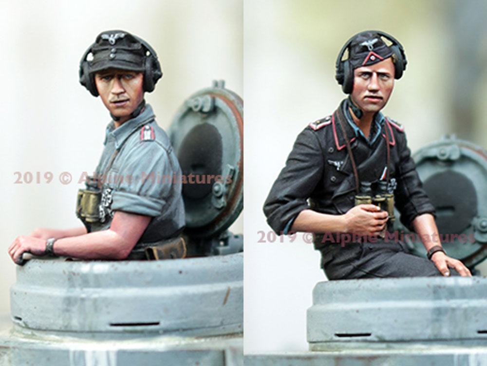 WW2 ドイツ陸軍 夏場の戦車兵セット (2体)レジン(アルパイン1/35 フィギュアNo.35265)商品画像_2
