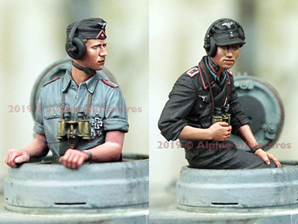 WW2 ドイツ陸軍 夏場の戦車兵セット (2体)レジン(アルパイン1/35 フィギュアNo.35265)商品画像_3