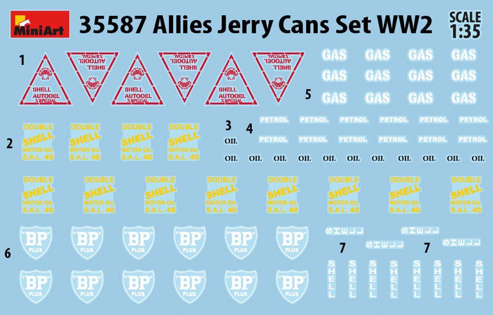 連合国 ジェリ缶セット WW2プラモデル(ミニアート1/35 ビルディング&アクセサリー シリーズNo.35587)商品画像_3