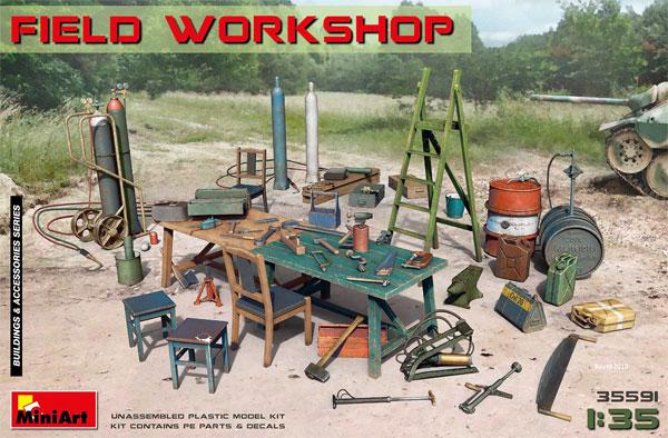 フィールドワークショッププラモデル(ミニアート1/35 ビルディング&アクセサリー シリーズNo.35591)商品画像