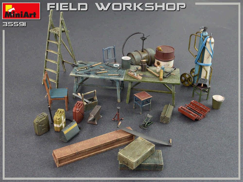フィールドワークショッププラモデル(ミニアート1/35 ビルディング&アクセサリー シリーズNo.35591)商品画像_2