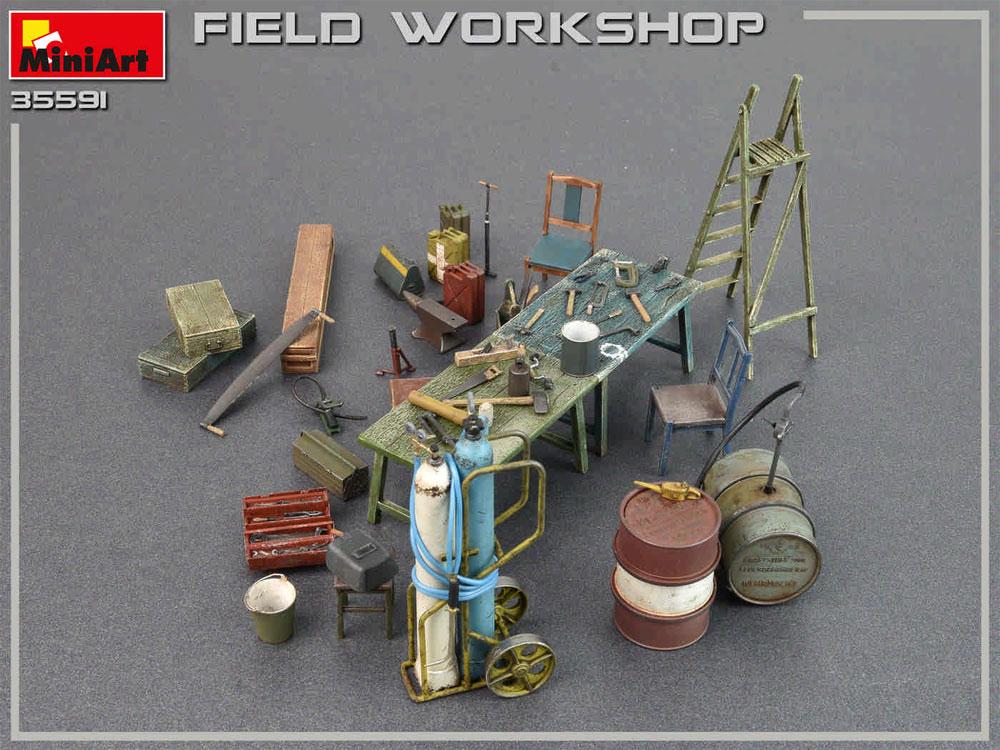 フィールドワークショッププラモデル(ミニアート1/35 ビルディング&アクセサリー シリーズNo.35591)商品画像_3