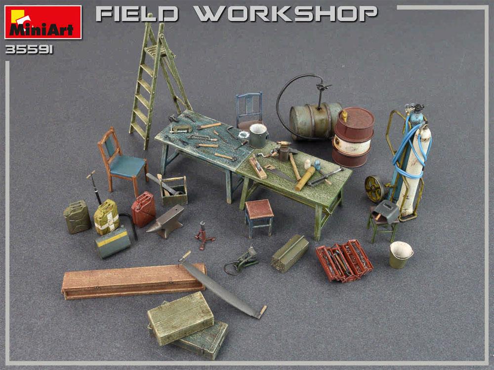 フィールドワークショッププラモデル(ミニアート1/35 ビルディング&アクセサリー シリーズNo.35591)商品画像_4