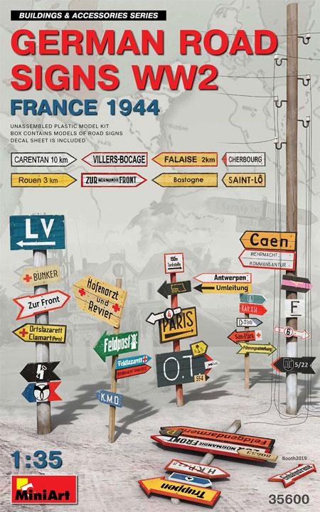 ドイツ 道路標識 WW2 フランス 1944プラモデル(ミニアート1/35 ビルディング&アクセサリー シリーズNo.35600)商品画像