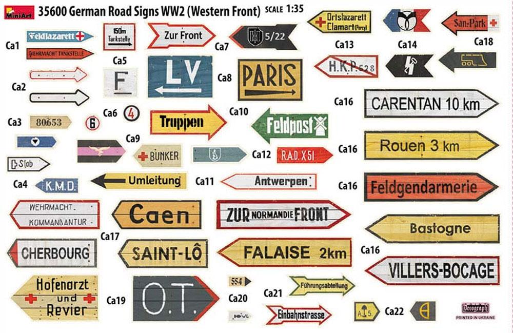 ドイツ 道路標識 WW2 フランス 1944プラモデル(ミニアート1/35 ビルディング&アクセサリー シリーズNo.35600)商品画像_2