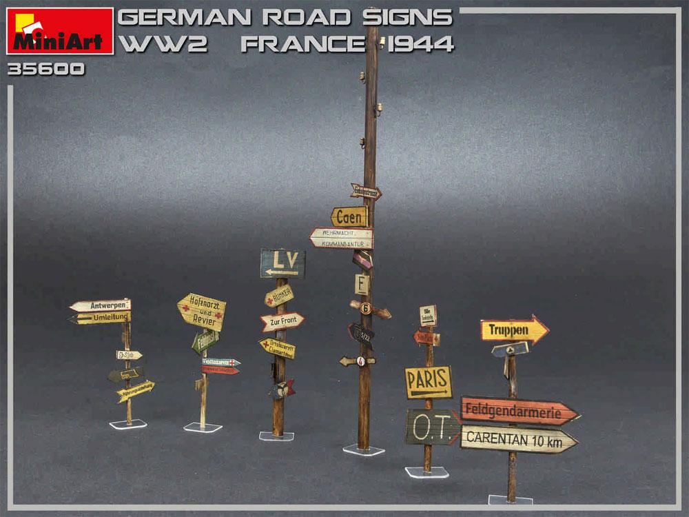 ドイツ 道路標識 WW2 フランス 1944プラモデル(ミニアート1/35 ビルディング&アクセサリー シリーズNo.35600)商品画像_3