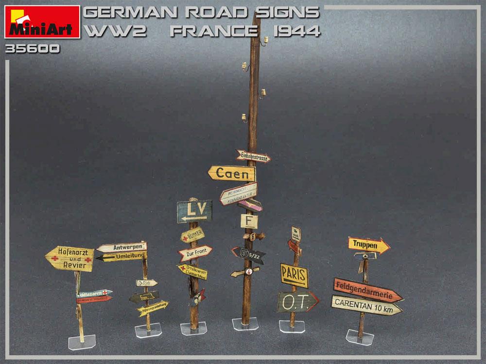 ドイツ 道路標識 WW2 フランス 1944プラモデル(ミニアート1/35 ビルディング&アクセサリー シリーズNo.35600)商品画像_4
