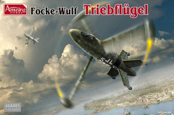 フォッケウルフ トリープフリューゲル ドイツ 垂直離着陸迎撃機プラモデル(アミュージングホビー1/48 エアクラフトNo.48A001)商品画像