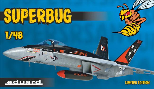 スーパーバグ F/A-18E スーパーホーネットプラモデル(エデュアルド1/48 リミテッドエディションNo.11129)商品画像