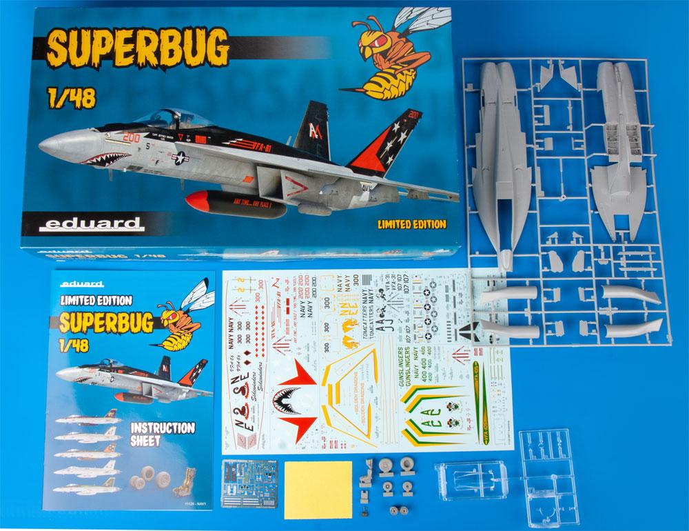 スーパーバグ F/A-18E スーパーホーネットプラモデル(エデュアルド1/48 リミテッドエディションNo.11129)商品画像_1