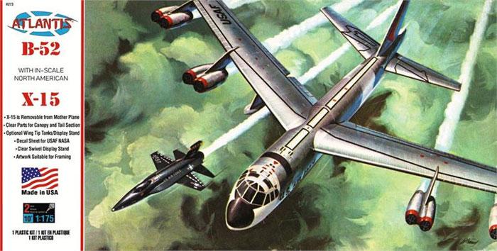 B-52 & X-15 w/スイベルスタンドプラモデル(アトランティスプラスチックモデルキットNo.H273)商品画像