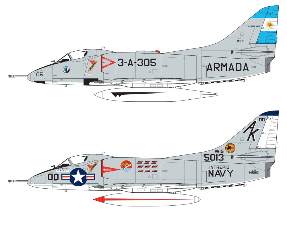 ダグラス A-4B/Q スカイホークプラモデル(エアフィックス1/72 ミリタリーエアクラフトNo.A03029A)商品画像_1