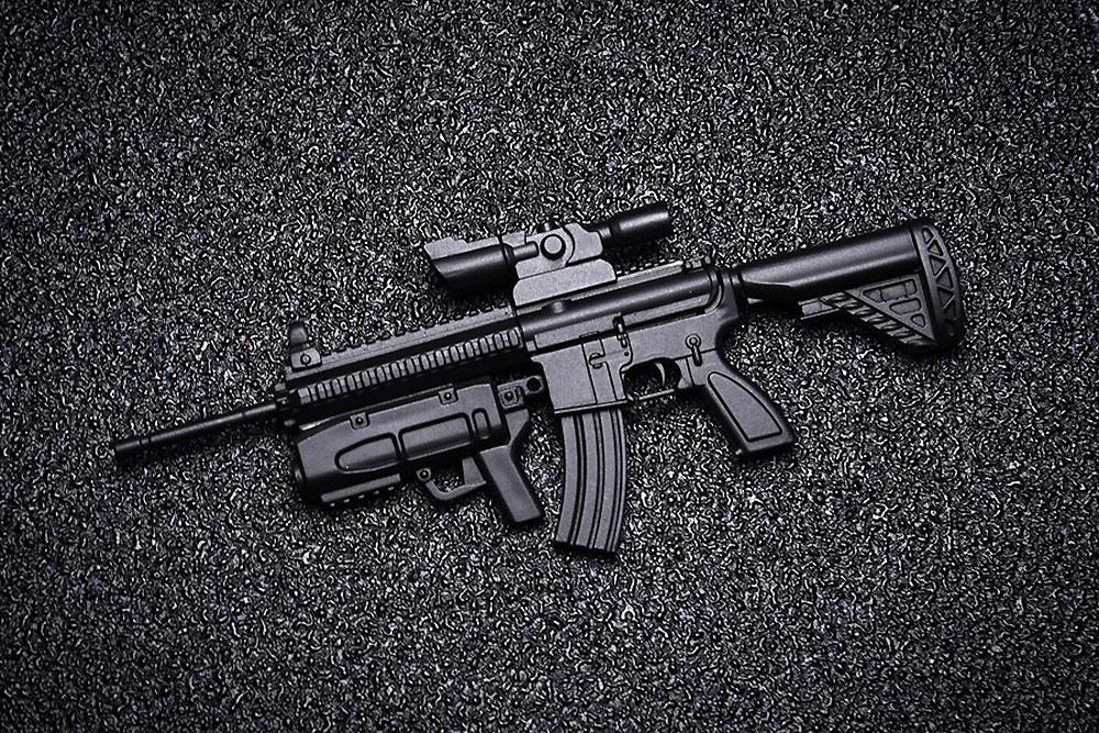 AW-002 AR-416 2in1プラモデル(橘猫工業1/12 ARMED WORLDNo.KM-033)商品画像_4