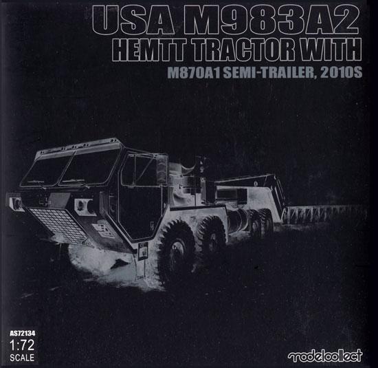 アメリカ M983A2 HEMTT トラクター w/M870A1 セミトレーラー 2010年代完成品(モデルコレクト1/72 AFV 完成品モデルNo.MODAS72134)商品画像