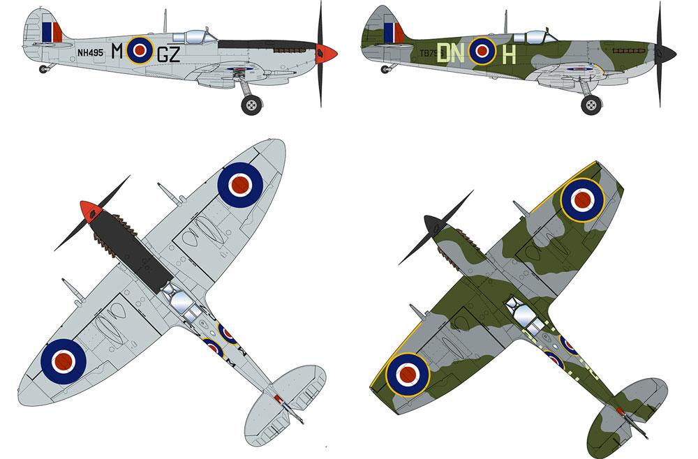 スピットファイア Mk.9 ハイバックプラモデル(プラッツ航空模型特選シリーズNo.AE-015)商品画像_4