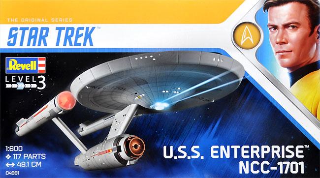 U.S.S エンタープライズ NCC-1701 (宇宙大作戦)プラモデル(レベルスタートレックNo.04991)商品画像