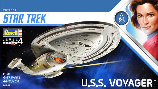 U.S.S. ヴォイジャー (スタートレック ヴォイジャー)プラモデル(レベルスタートレックNo.04992)商品画像