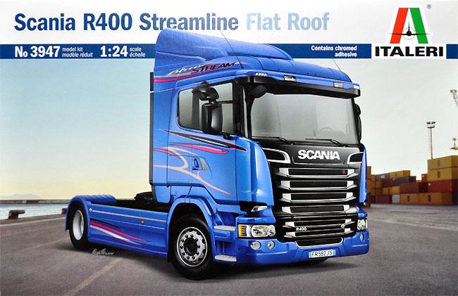 スカニア R400 ストリームライン トラクターヘッド フラットルーフプラモデル(イタレリ1/24 トラックシリーズNo.3947)商品画像