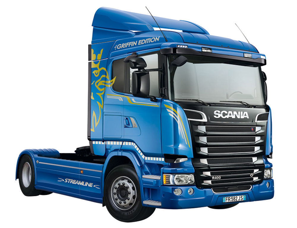 スカニア R400 ストリームライン トラクターヘッド フラットルーフプラモデル(イタレリ1/24 トラックシリーズNo.3947)商品画像_4