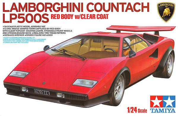 ランボルギーニ カウンタック LP500S クリヤーコートレッドボディプラモデル(タミヤ1/24 スポーツカーシリーズNo.419)商品画像