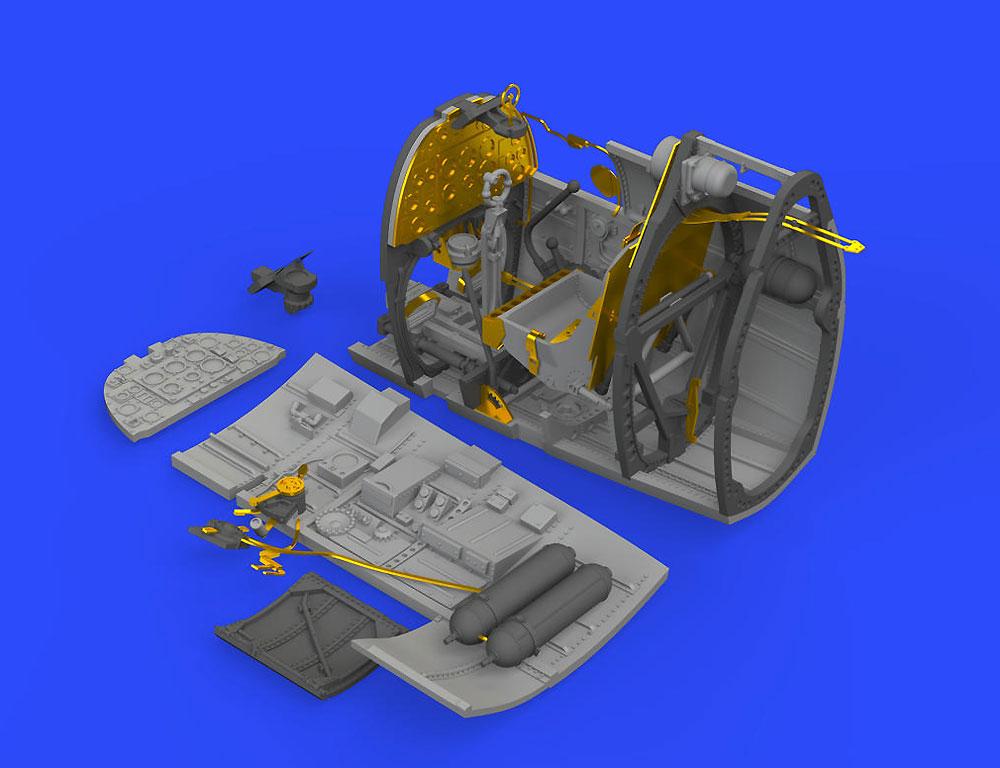 スーパーマリン スピットファイア Mk.1 コクピットレジン(エデュアルド1/48 BRASSINNo.648466)商品画像_2