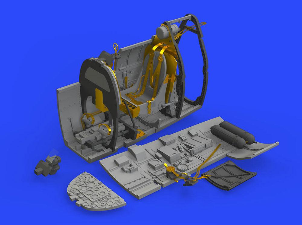 スーパーマリン スピットファイア Mk.1 コクピットレジン(エデュアルド1/48 BRASSINNo.648466)商品画像_3