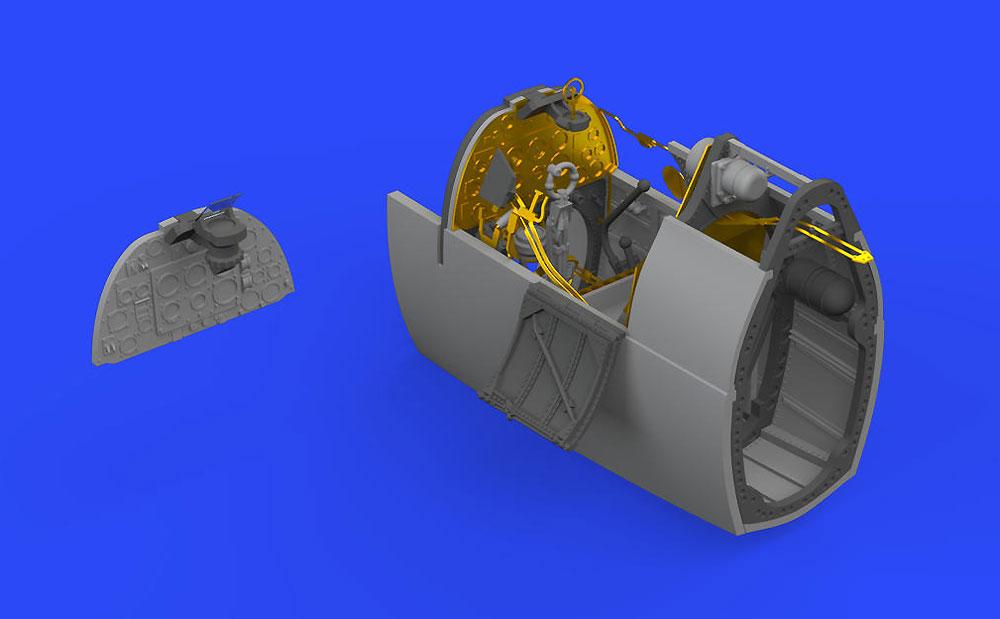 スーパーマリン スピットファイア Mk.1 コクピットレジン(エデュアルド1/48 BRASSINNo.648466)商品画像_4