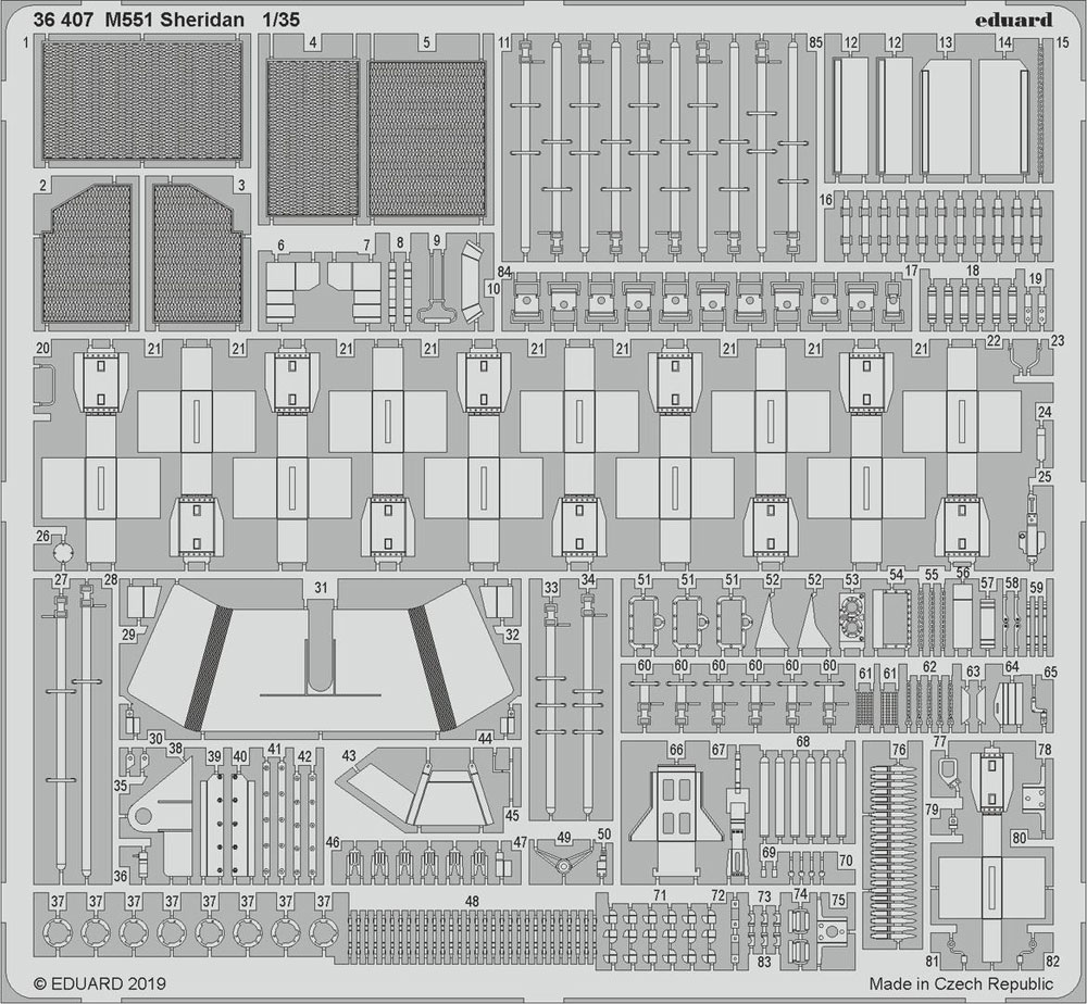 M551 シェリダン ビッグED パーツセットエッチング(エデュアルド1/35 BIG ED (AFV)No.BIG3595)商品画像_3