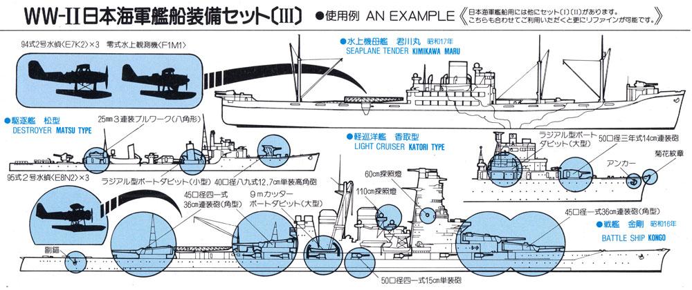 WW2 日本海軍艦船装備セット 3 真ちゅう製 35.6cm砲身 8本付きプラモデル(ピットロードスカイウェーブ E シリーズNo.E003B)商品画像_1