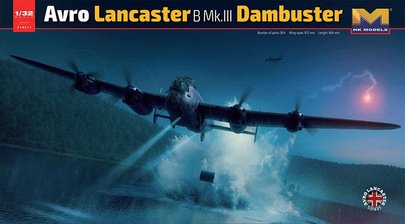 アブロ ランカスター B Mk.3 ダムバスタープラモデル(HKモデル1/32 エアクラフトNo.01E011)商品画像