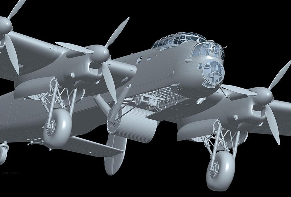 アブロ ランカスター B Mk.3 ダムバスタープラモデル(HKモデル1/32 エアクラフトNo.01E011)商品画像_2