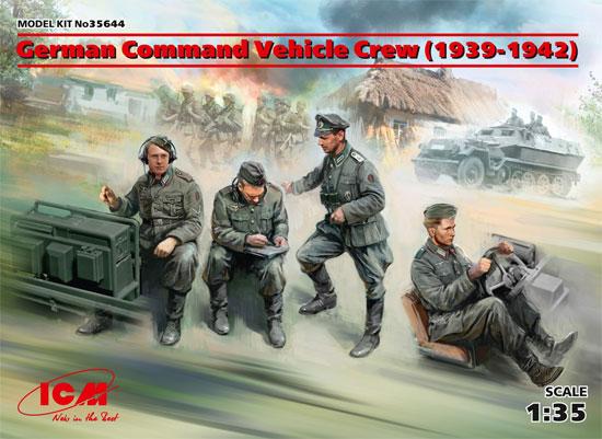 ドイツ 装甲指揮車 クルー 1939-1942プラモデル(ICM1/35 ミリタリービークル・フィギュアNo.35644)商品画像