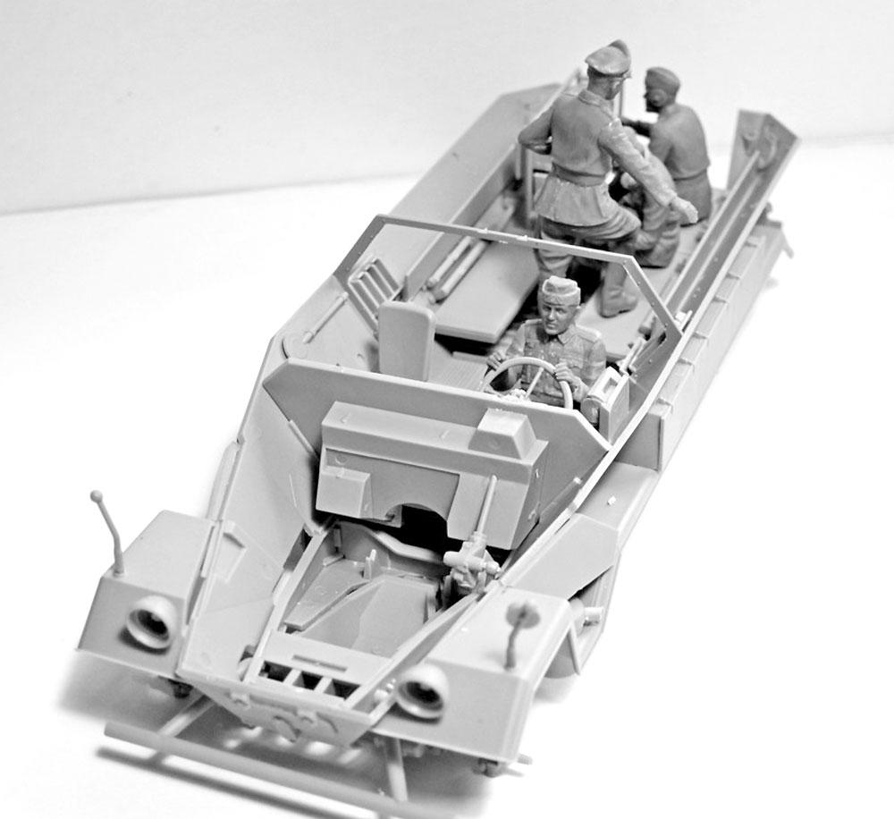 ドイツ 装甲指揮車 クルー 1939-1942プラモデル(ICM1/35 ミリタリービークル・フィギュアNo.35644)商品画像_3